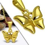 Pendentif animal 26 - Petit papillon gold-ip