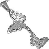 Pendentif animal 36 - Deux papillons