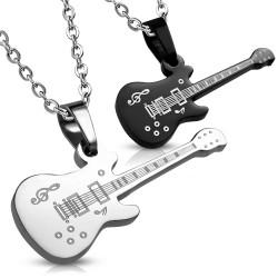 Pendentif pour couple 14 - Deux guitares