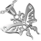 Pendentif animal 41 - Papillon tribal avec zircones