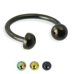 Piercing micro-circulaire 36 - Demi-boules