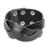 Bracelet de force 95 - Noir bandes qui se croisent