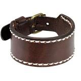 Bracelet de force 77 - Brun coutures blanches