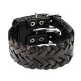 Bracelet de force 123 - Noir tressé