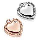 Pendentif petit coeur avec zircone (19)