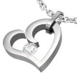 Pendentif coeur zircone transparent (44)