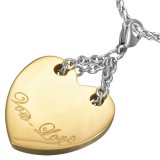 Pendentif coeur jaune Vow love (57)