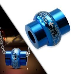 Pendentif anneau 09 - Bleu latin