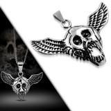 Pendentif gothique 08 - Crâne aileée