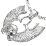 Pendentif gothique 26 - Tête de mort et ailes
