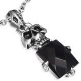 Pendentif gothique 27 - Crâne et gem noir