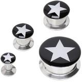 Plug en acier dévissable logo étoile