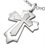Pendentif croix 013 - Double médiévale