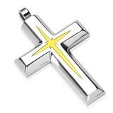 Pendentif croix 024 - Centre jaune