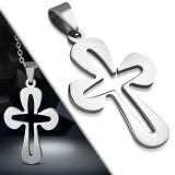 Pendentif croix 025 - Bords arrondis