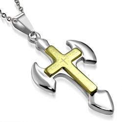 Pendentif croix 036 - Bords arrondis
