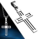 Pendentif croix 046 - Simple creuse