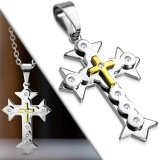 Pendentif croix 060 - Deluxe strass
