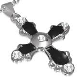 Pendentif croix 070 - Bords avec zircones