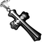 Pendentif croix 092 - Noire masculin et féminin