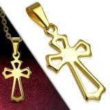 Pendentif croix 144 - Petite croix gold-ip