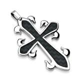 Pendentif croix 097 - Fibre de carbone
