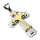 Pendentif croix 117 - Centrale jaune