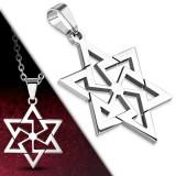 Pendentif acier 27 - étoile de David