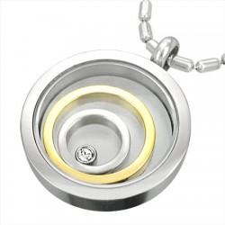 Pendentif acier 29 - Cercles qui bougent