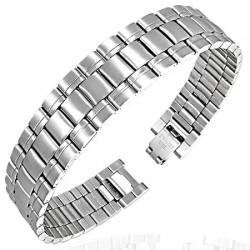 Bracelet en acier 01 - Argenté trois rangées