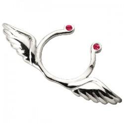 Faux-piercing pour téton 02 - Deux ailes