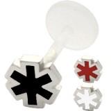 Piercing micro-labret PTFE 28 - étoile