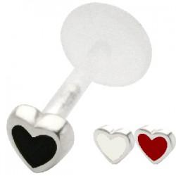 Piercing micro-labret PTFE 34 - Coeur