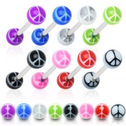 Piercing de langue UV 24 - Peace and love