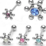 Piercing langue 58 - UFO strass