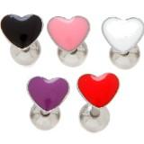 Piercing langue 63 - Coeur enamel