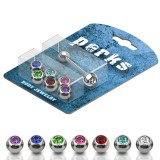 Pack de piercings langues 08 - Boules strass