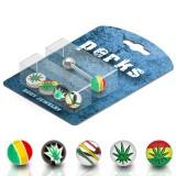 Pack de piercings langues 09 - Boules rastas
