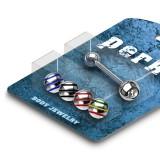 Pack de piercings langues 17 - Boules striées en acier