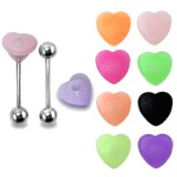 Piercing langue coquine 19 - Silicone tickler coeur