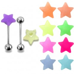 Piercing langue coquine 20 - Silicone tickler étoile