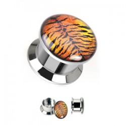 Plug en acier logo dévissable tigre