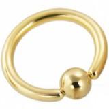 Piercing anneau 1,6mm 02 - Plaqué-or