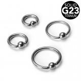 Piercing anneau 1,6mm 25 - Titane G23