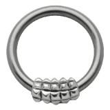 Piercing anneau 1,6mm 35 - Carrés