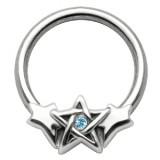 Piercing anneau 1,6mm 43 - étoile de David
