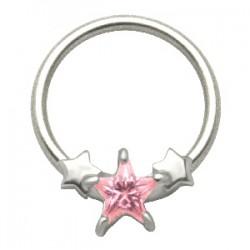 Piercing anneau 1,6mm 44 - étoiles