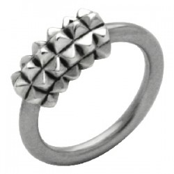 Piercing anneau 1,6mm 47 - Carrés