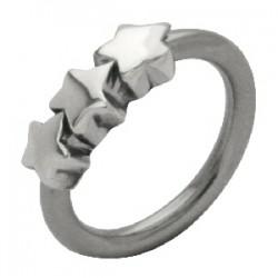 Piercing anneau 1,6mm 48 - Trois étoiles