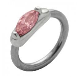 Piercing anneau 1,6mm 52 - Zircone